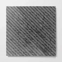 Herringbone Metal Print