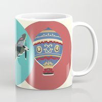 aviation Mugs featuring A Brief History of Aviation by Simon Alenius