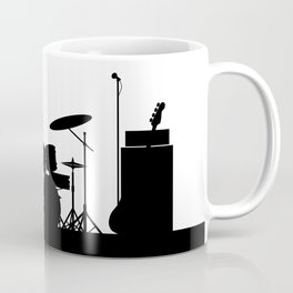 Rock Band Equipment Silhouette Coffee Mug