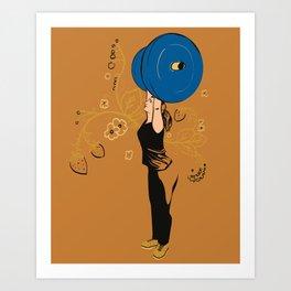 Women who lift Art Print