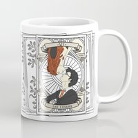 harry potter Mugs featuring Harry Potter Tarot by Luke Eckstein