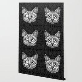 Egypt cat aztec pattern Wallpaper