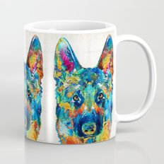 Colorful German Shepherd Dog Art By Sharon Cummings Mug