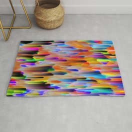 Colorful digital art splashing G393 Rug