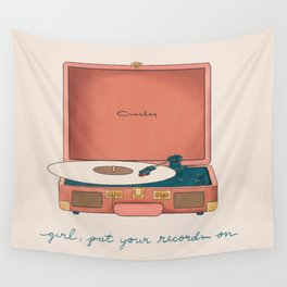 Girl, Put Your Records On Wall Tapestry