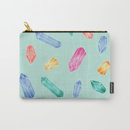 Crystals pattern - Light Green Carry-All Pouch