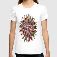 metallic T-shirts featuring Metallic Snowflake by Brian Raggatt