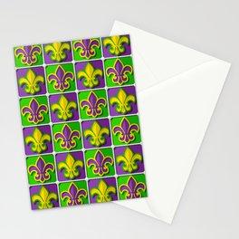 Mardi Gras  pattern Stationery Cards