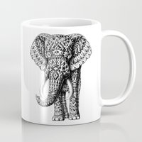 bioworkz Mugs featuring Navajo Elephant by BIOWORKZ