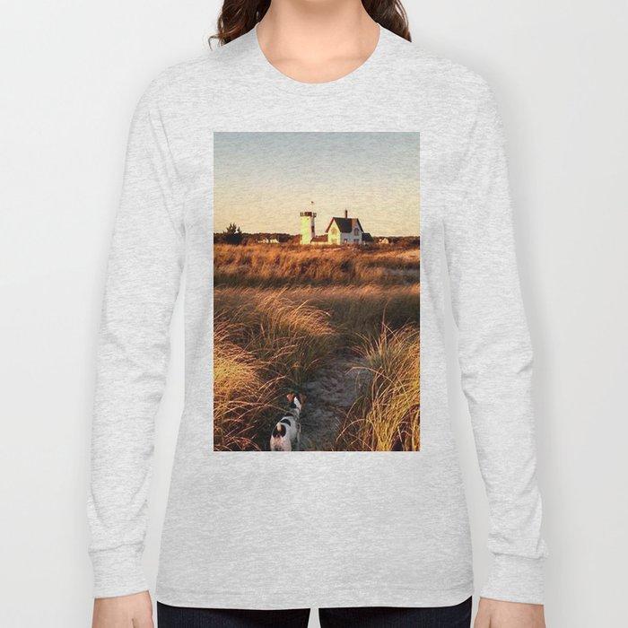 Hardings Beach Light House Long Sleeve T-shirt