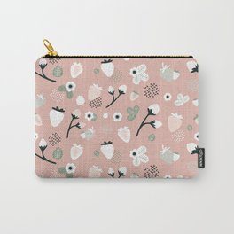 Rose Strawberry Pattern Carry-All Pouch
