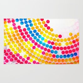 Colorful color Circle Dots Pattern for Girls Rug