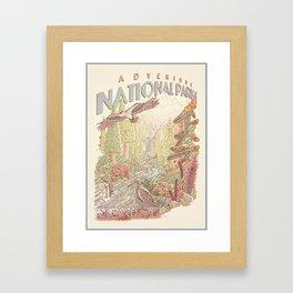 Adventure National Parks Framed Art Print