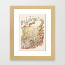 Adventure National Parks Framed Art Print