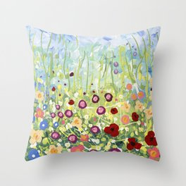 Blooms & Kisses Throw Pillow