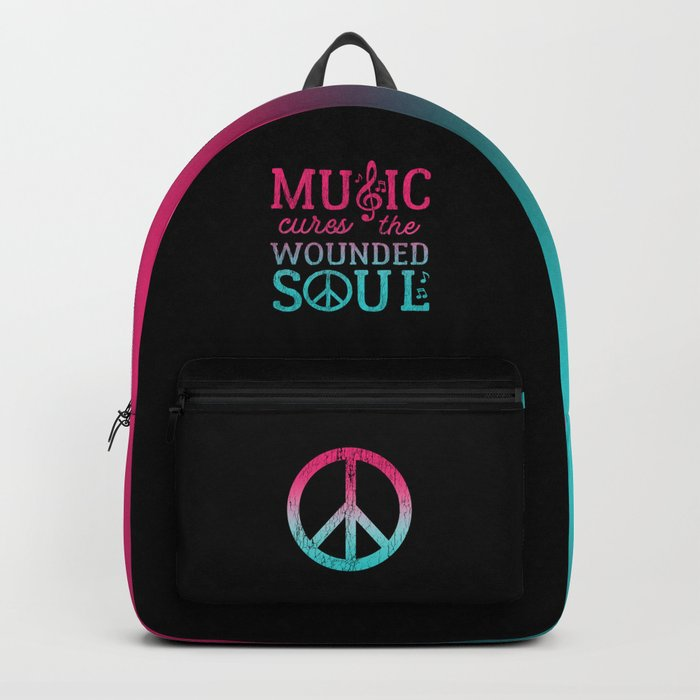 Music Cures the Wounded Soul Backpack