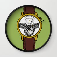 jessica lange Wall Clocks featuring A. Lange by Illustrated by Jenny