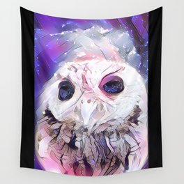 Pink Owl Wall Tapestry