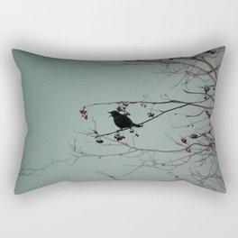 Bird on a branch Rectangular Pillow