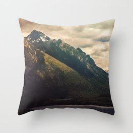 Mountain in the Lake Patagonia Argentina Landscape Throw Pillow