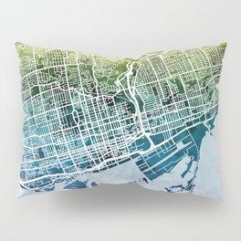 Toronto Street Map Pillow Sham