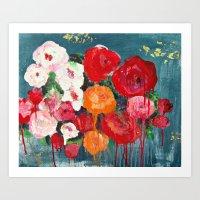 guilded roses Art Print