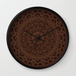 Mandala Dark Chocolate Wall Clock