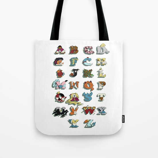 The Disney Alphabet - White Background Tote Bag