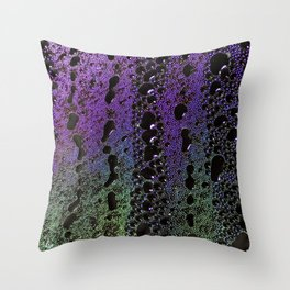 Psychedelic condensation Throw Pillow
