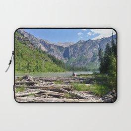 Avalanche Lake, Montana Mountain Scene Laptop Sleeve