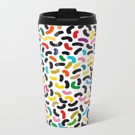 colored worms Metal Travel Mug