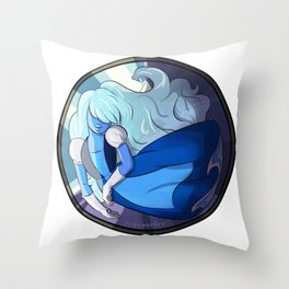 Sapphire in Sapphire Throw Pillow
