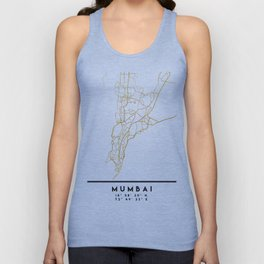MUMBAI INDIA CITY STREET MAP ART Unisex Tank Top