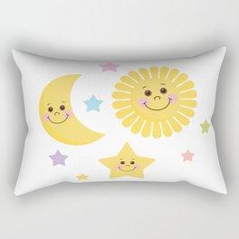 Sun and Moon Rectangular Pillow