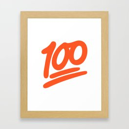 100 EMOJI Framed Art Print