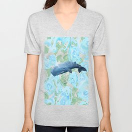 Majestic giant of the oceans Unisex V-Neck