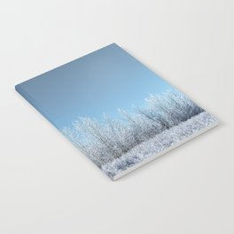 A Line of Frosted Trees Notebook