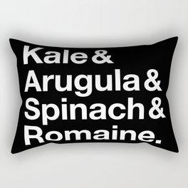 Kale & Arugula & Spinach & Romaine. Rectangular Pillow