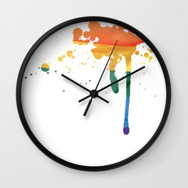 Fam Splash (LGBT) Wall Clock