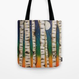 CHAKRA RAINBOW FOREST Tote Bag