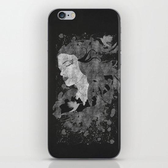 Cosmic dreams (B&W) iPhone & iPod Skin