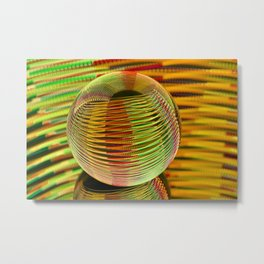Round n round we go. Metal Print