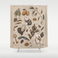 georgia Shower Curtains featuring Georgia Nature Walks by Jessica Roux
