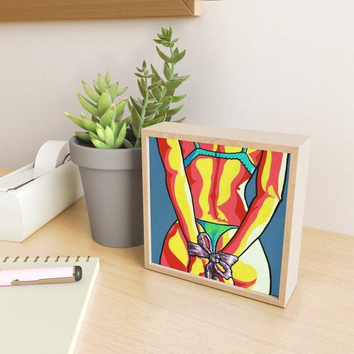 Ribbon Framed Mini Art Print