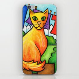 Cat On Fence iPhone Skin