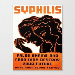 Vintage poster - Syphilis Canvas Print