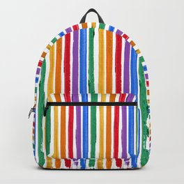 Rainbow Lipstick Stripes Backpack