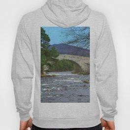 Bridge of Dee, Brig O Dee, River Dee, Balmoral, Scotland Hoody
