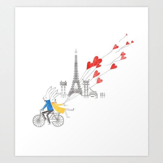 Paris in Love Art Print