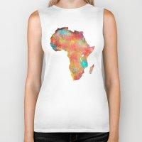 africa Biker Tanks featuring Africa by jbjart
